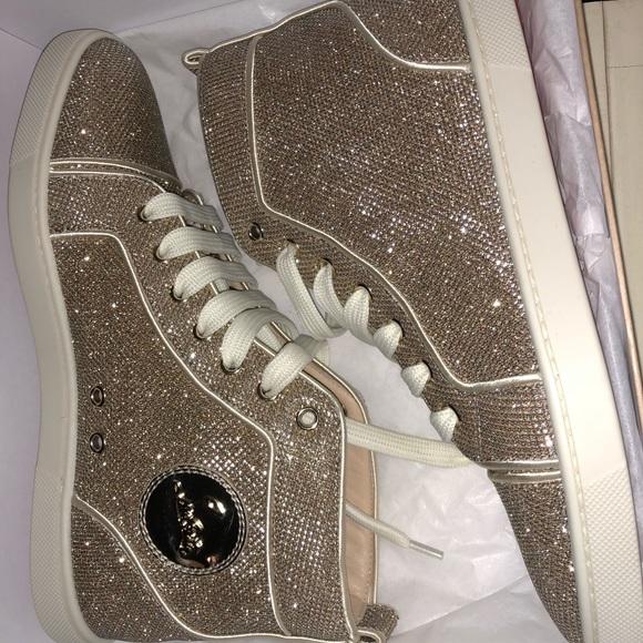 ac9c2ab86dca 📛SOLD📛 Bip bip gold glitter louboutin sneakers. NWT. Christian Louboutin